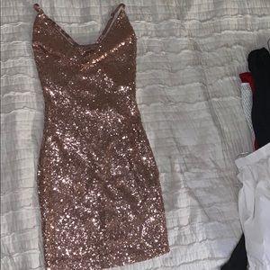 Pink Sequin Fashion Nova dress